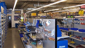 Fastenal inside store; small