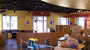 KFC; finished interior; small