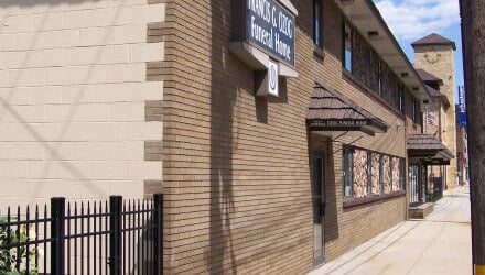 Ozog's Funeral Home; front; feature size