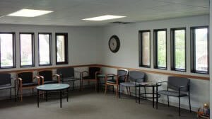 Windber Medical Center chairs and windows; small